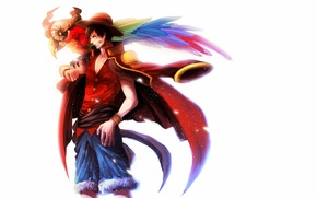 Picture guy, anime, art, one piece, Luffy, Monkey D. Luffy