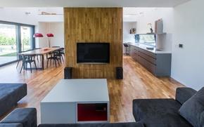 Picture interior, villa, living space