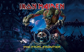 Picture space, skull, group, skeleton, Heavy Metal, Iron Maiden, The Final Frontier