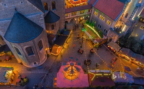 Picture lights, home, Germany, area, Christmas, fair, Braunschweig