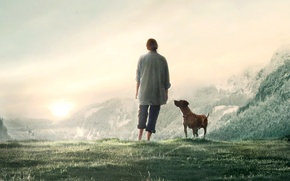 Picture Girl, Dog, Wall, 2012, The film, Movie, The Wall