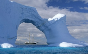 Picture Wave, Sailboat, Iceberg
