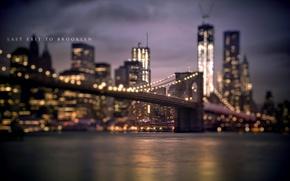 Picture night, bridge, the city, river