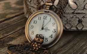 Picture owl, watch, figures, pendant, decoration, chain