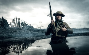 Picture war, the game, soldiers, Electronic Arts, Battlefield 1