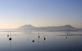 Picture sea, yachts, morning, Mallorca, Porta de Sant Sabastiá