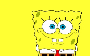 Wallpaper yellow, smile, SpongeBob SquarePants, Sponge Bob Square Pants