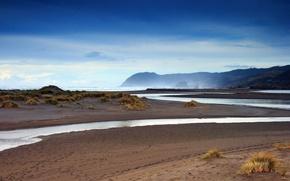 Wallpaper shore, sand, stream