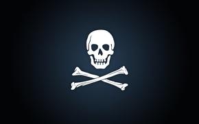 Wallpaper bones, Pirate emblem, background
