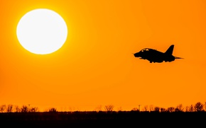 Picture sunset, plane, jet, RAF, Red Arrows, Royal Air Force, aeroplane, The Royal Air Force Aerobatic …