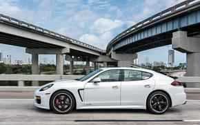Picture White, Porsche, Panamera, GTS, 2014, US-spec (970)