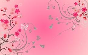 Wallpaper flowers, flowers, butterfly, background, butterflies, background