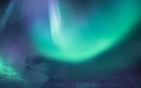 Picture mountains, northern lights, aurora borealis