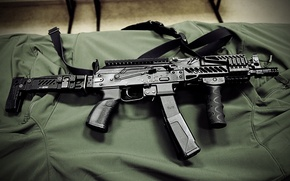 Picture weapons, gun machine gun, PP-19-01, Vityaz-SN