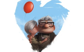 Picture heart, Ellie, Carl Fredricksen, Up