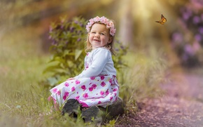 Picture mood, butterfly, girl