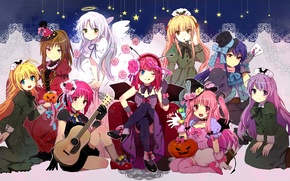 Picture Anime, long hair, Kanade Tachibana, Angel Beats, yui, Yusa.girls, Nakamura yuri, Sekine Shiori, Irie Miyuki, …