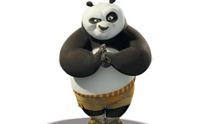 Picture Panda, White background, Kung Fu