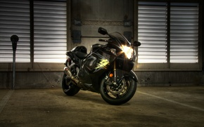 Picture black, black, Suzuki, headlights, hayabusa, gsx1300r, suziki, Hayabusa