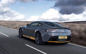 Wallpaper Sport-Plus Pack, speed, Aston Martin, rear view, supercar, road, supercar, speed. road, V12, machine, Vantage ...