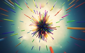 Picture line, the explosion, abstraction, render, hq Wallpapers, links