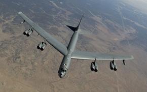 Picture strategic, bomber, flight, heavy, STRATO fortress, Boeing, B-52
