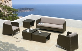 Picture design, style, interior, chairs, terrace