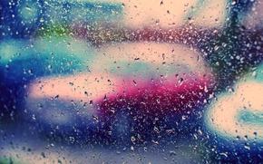 Wallpaper glass, color, drops, rain, Wallpaper, bright, wallpapers