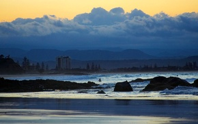 Picture sea, Coolangatta, clouds, Australia, home, QLD, Gold Coast