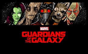 Picture comic, Rocket, Guardians Of The Galaxy, Guardians of the Galaxy, Gamora, Groot, Drax, Star Lord