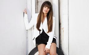 Picture actress, brunette, Lea Michele
