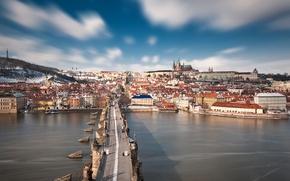 Picture Prague, cityscape, Czech Republic, Charles Bridge, Stone Bridge, Vltava river, Prague Bridge, Peter Parler