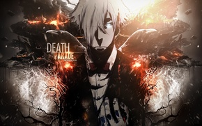Picture anime, art, costume, guy, Raven, Quindecim, Kurokami no Onna, Death Parade, Decim, Parade Of Death