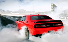 Picture Dodge, Challenger, muscle, mopar, burnout, SRT, drag racing, grag