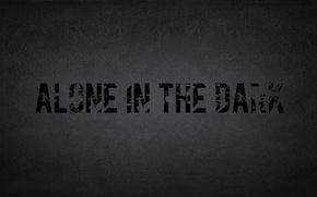 Picture darkness, grey, one, Alone in the Dark, alone in the dark