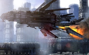 Picture the city, ship, dystopia