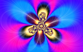 Wallpaper light, pattern, color, fractal, symmetry
