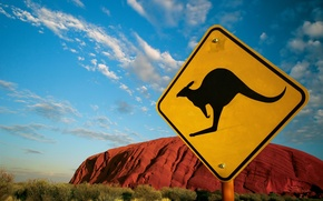 Picture sign, Australia, 152, kangaroo