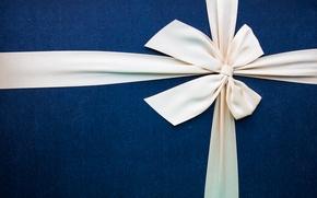 Picture box, gift, minimalism, texture, bow, box, minimalism, gift