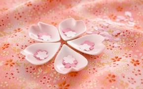 Picture Cup, Japan, cherry blossoms, pink fabric