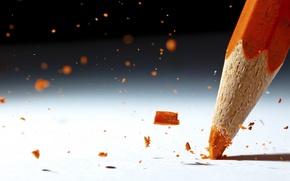 Picture macro, orange, pencil