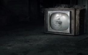 Wallpaper background, room, TV