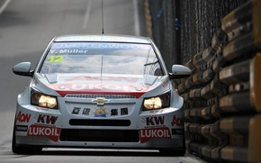 Picture background, Wallpaper, track, Chevrolet, race, car, Cruze, WTCC, Ivan Muller, the world championship in touring …
