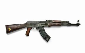 Wallpaper weapons, Machine, sticker, shop, old, wooden stock, Kalashnikov, Wallpaper, legend, AK-47, rusty, USSR, wallpaper