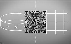 Picture freedom, cell, grille, collar, choice, barcode, protest, qr, qr-cod, anti, protest