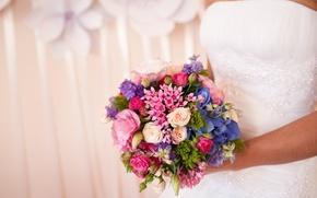 Wallpaper flowers, holiday, bouquet, wedding