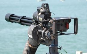 Picture weapons, machine gun, multicore, Minigun, M134