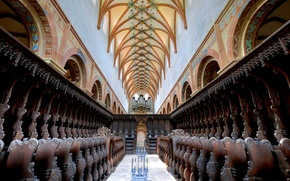 Picture Germany, hall, body, Baden-Württemberg, the nave, Maulbronn monastery