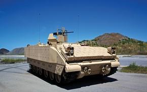 Picture machine, combat, armor, Bradley, self-propelled, mortar, mortar