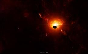 Picture stars, nebula, planet, glow, nebula